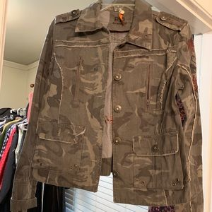 B D Branded Camo and Breaded Jacket